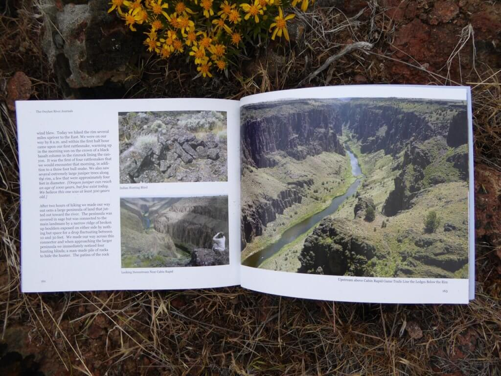 Spread from The Owyhee River Journals