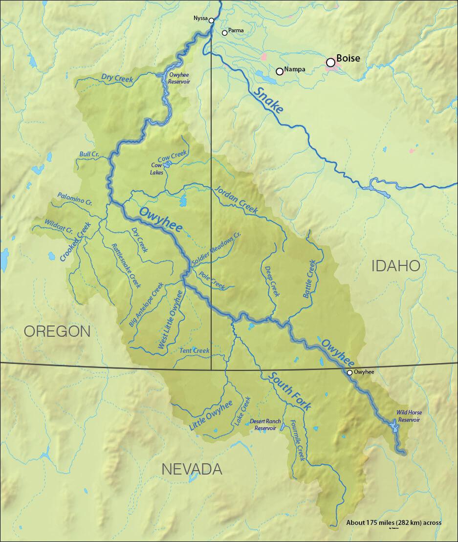 Owyhee Regional Map